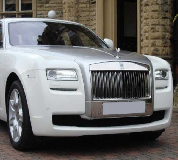 Rolls Royce Ghost - White Hire in Peterborough